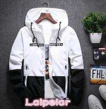 Laipelar anorak jacket windbreaker men jaqueta masculina zipper patchwork waterproof jackets streetwear autumn bomber 4XL