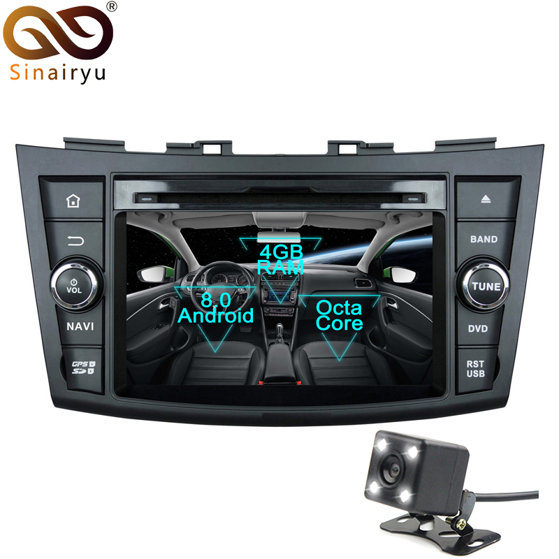 Sinairyu 2 Din Android 8 0 Octa Core font b Car b font DVD Player for