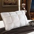 Peter Khanun 48*74 cm Brand Design 3D Brood Witte Eend/Ganzendons Veren Kussen Standaard Antibacteriële Elegante thuis Textiel 014