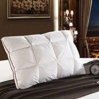 Peter Khanun 48*74cm Brand Design 3D Bread White Duck/Goose Down Feather Pillow Standard Antibacterial Elegant Home Textile 014