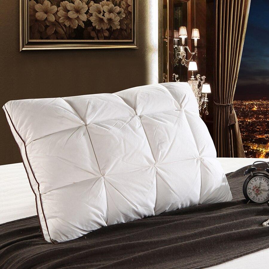 Peter Khanun 48*74 cm Marque Conception 3D Pain Blanc Canard/Duvet d'oie Plume Oreiller Standard Antibactérien Élégant textile à la maison 014