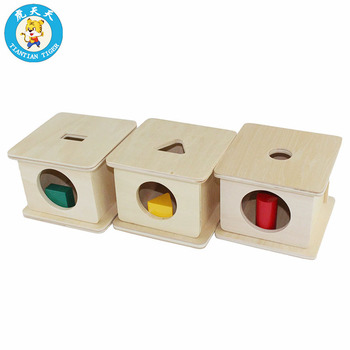 Baby Kids Toys Montessori Early Education Toys Infant Toddler Wooden Imbucare Box With Prisms