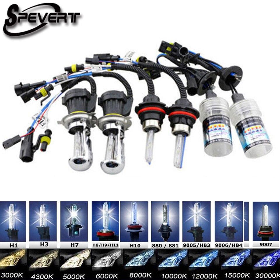 SPEVERT 35 W 2 pcs HID Bi Xenon Ampoules Ampoule H4 H13 9004 9007 Salut/Lo D1S D2S H1 H3 H7 H8/H9/H11 9005/HB3/H10 9006/HB4 H27 projecteur