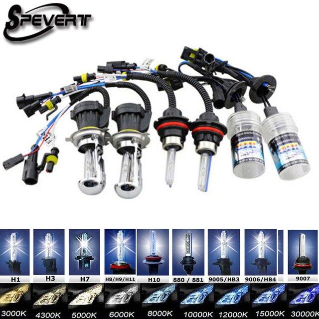 SPEVERT 35W 2pcs HID Bi Xenon Ampoules Bulb H4 H13 9004 9007 Hi Lo D1S D2S H1 H3 H7 H8 H9 H11 9005 HB3 H10 9006 HB4 H27 HeadLamp