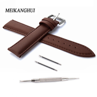 Hot sale Watchband High quality Leather Watch Accessories For Women 14 15 16 17 18 19 20 21 22 23 24 MM Strap Belt Free shipping