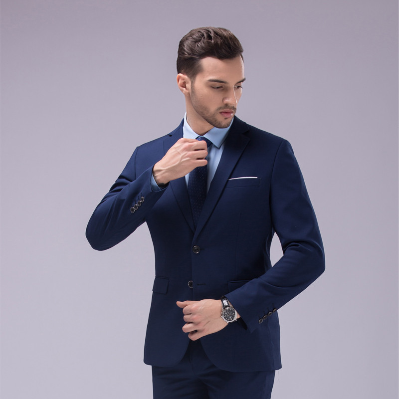Aliexpress.com : Buy fg8003 Vnaix Custom Made Dark Blue Black Suit ...