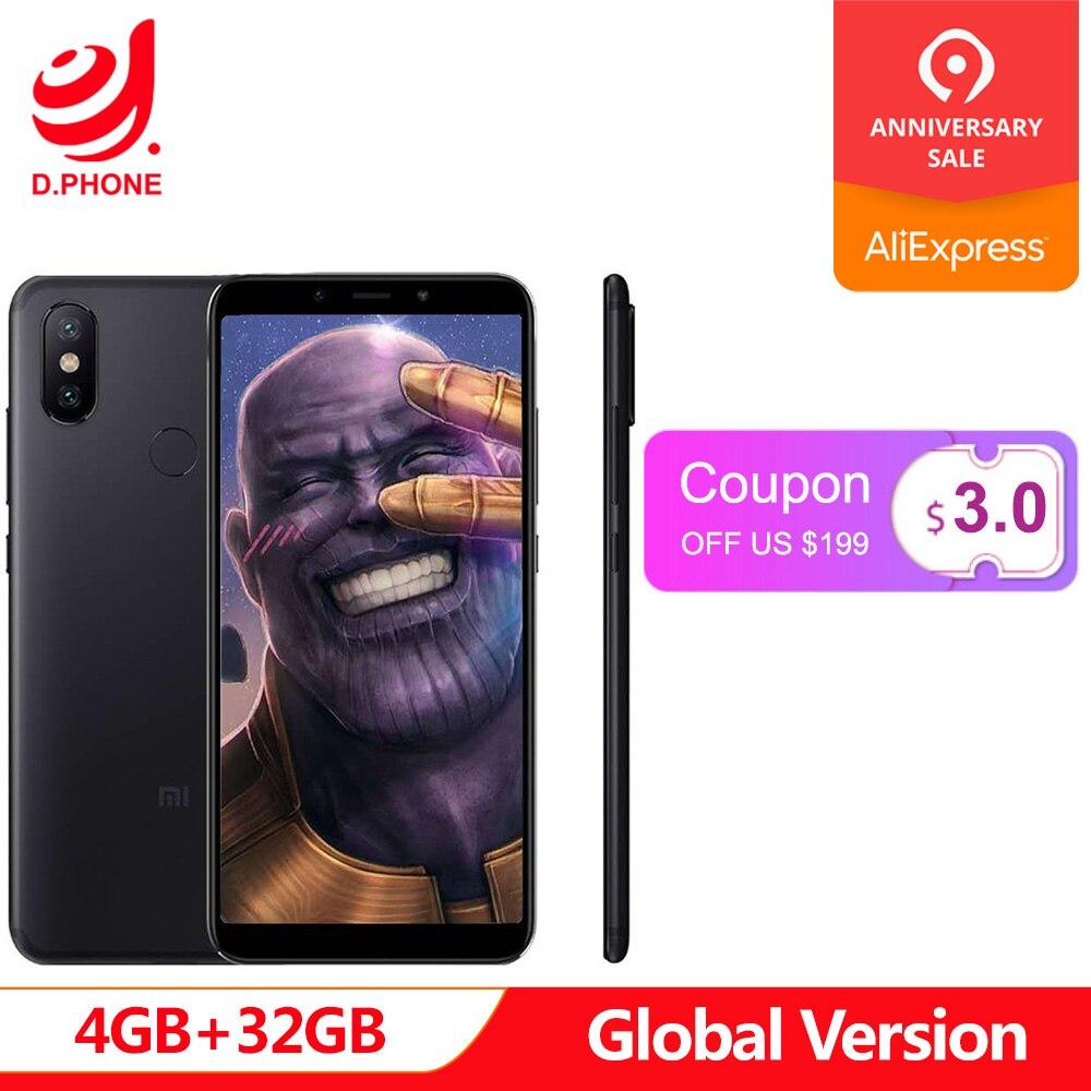 Turquie 3 ~ 7 jours ouvrables Version mondiale Xiao mi mi A2 4 GB Ram 32 GB Rom 5.99