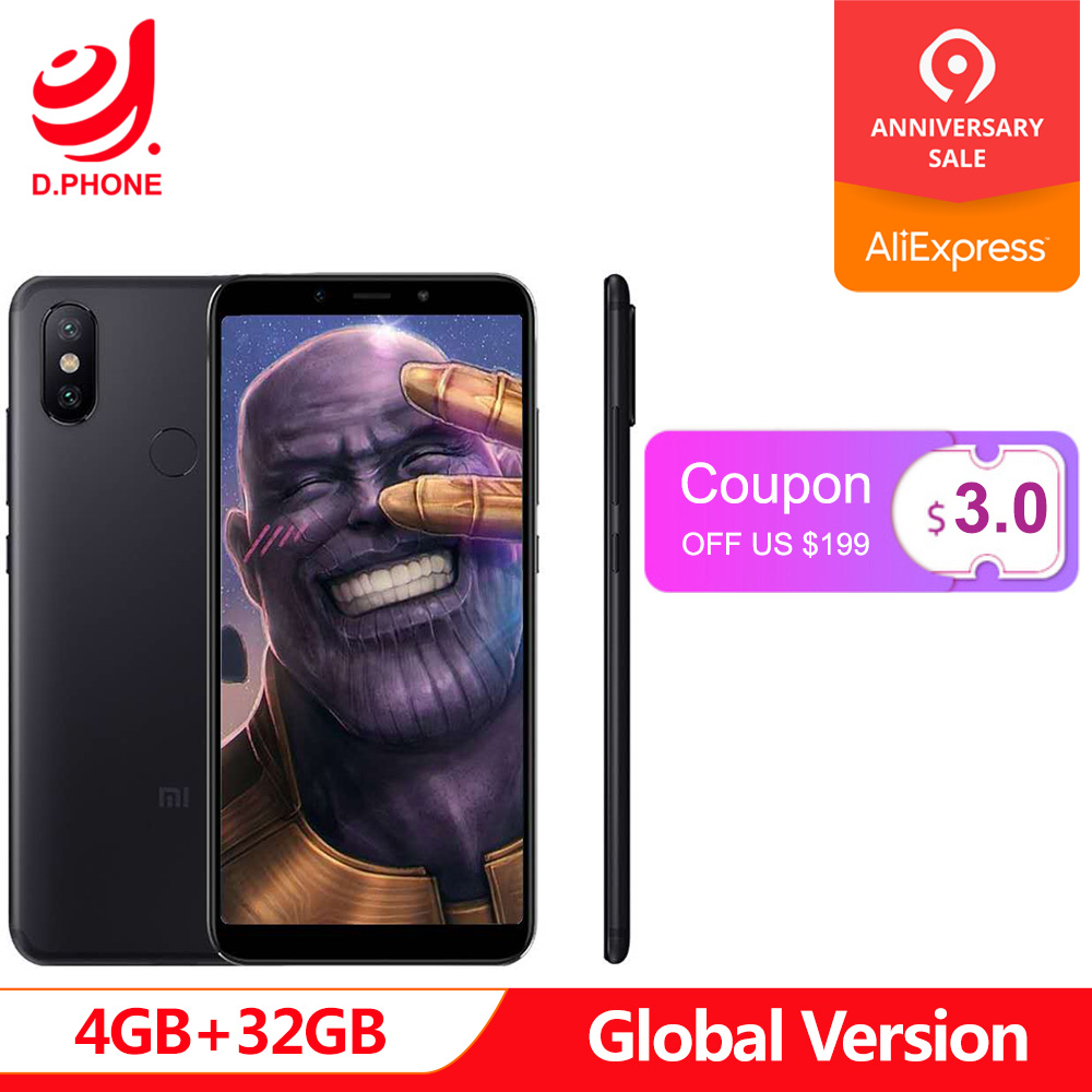 Turquie 3 ~ 7 jours ouvrables Version mondiale Xiao mi mi A2 4 GB Ram 32 GB Rom 5.99