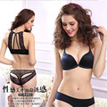 lace bra set 2016 sexy lingerie underwear women france sexy bra push up new transparent Gather Prop No trace Back Front buckle