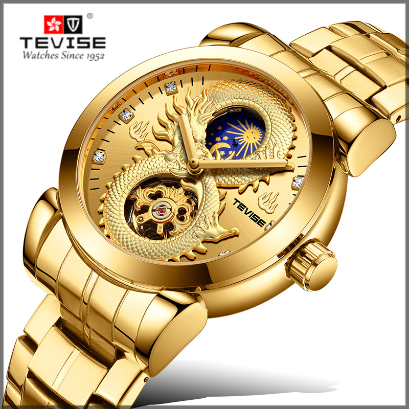 2019 New TEVISE Brand Men Mechanical Watches Luxury  Automatic Watch Male Gold Clock Business Wristwatch Relogio Masculino2019 New TEVISE Brand Men Mechanical Watches Luxury  Automatic Watch Male Gold Clock Business Wristwatch Relogio Masculino