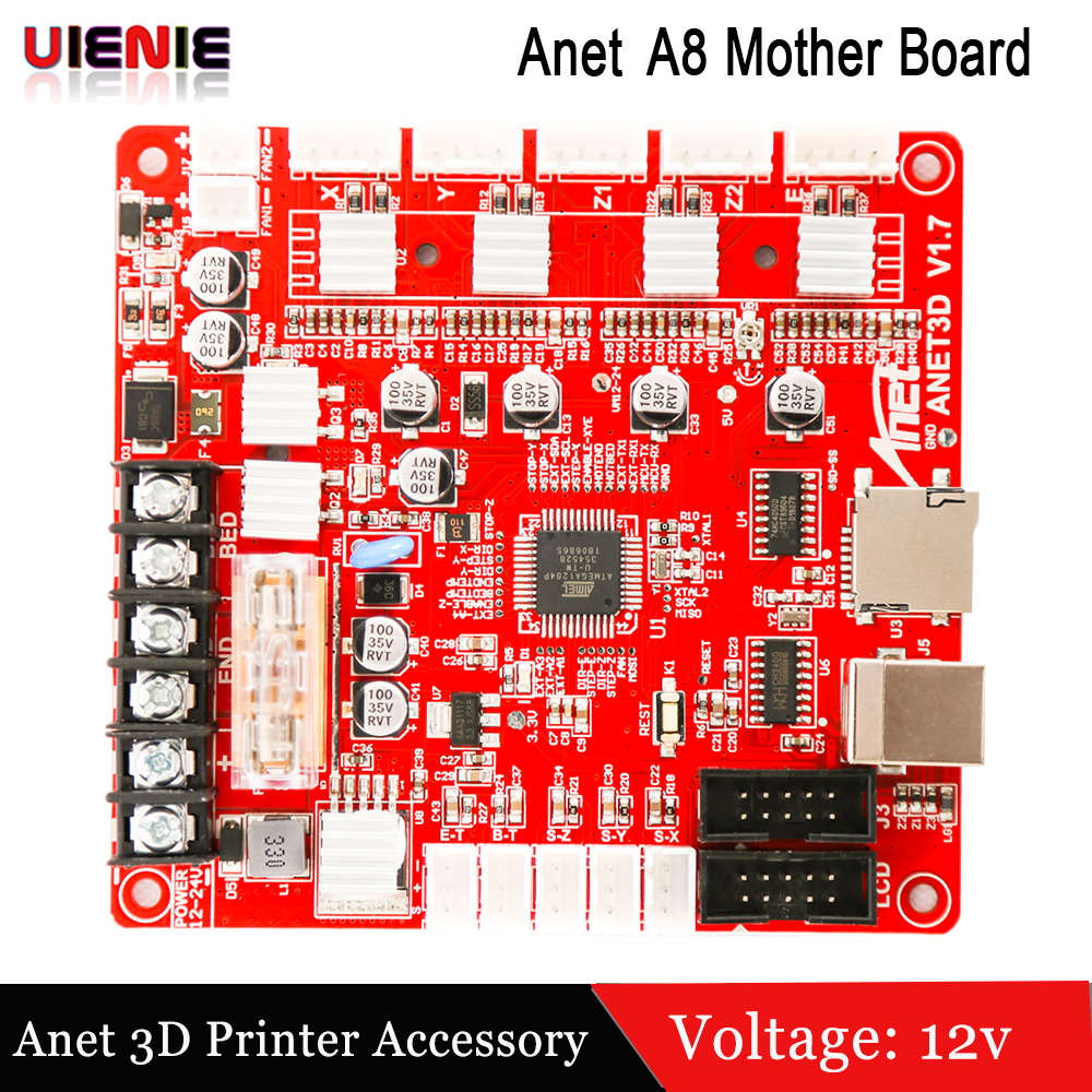 Anet A1284-Base V1 7 12v Control Board Mother Board Mainboard for Anet A8 A6 A2 E10 E12 DIY Self Assembly 3D printer KIT Desktop
