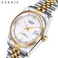 Parnis автоматические механические часы 2019 Роскошные брендовые золотые мужские и женские Элегантный в форме бриллианта нержавеющий браслет ч...