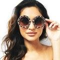 2017 Nova Moda Mulheres Rodada Óculos De Sol Das Mulheres de Renda Retro Feminino Óculos De Sol ou Óculos Senhoras Do Vintage oculos de sol feminino