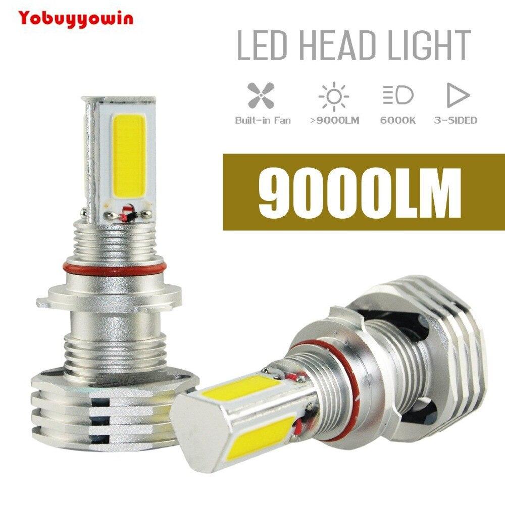 90W 9000LM 9006/HB4 LED Headlight Low Beam / Fog Light Bulbs Conversion Kit 3 COB LED White Super Bright-Replaces HalogenHID