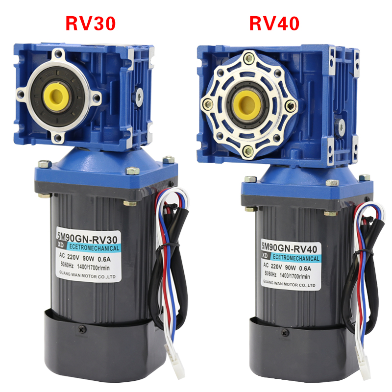 90 W vis sans fin moteur monophasé 220 v AC vitesse moteur haute couple positif et négatif moteur électrique