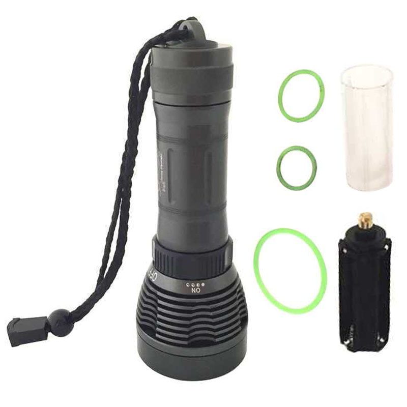 Powerful Diver Flashlight For Diving XM-L T6 LED Light 2000lm Underwater Scuba Diving Flashlights Torch Lamp Lantern For Hunting