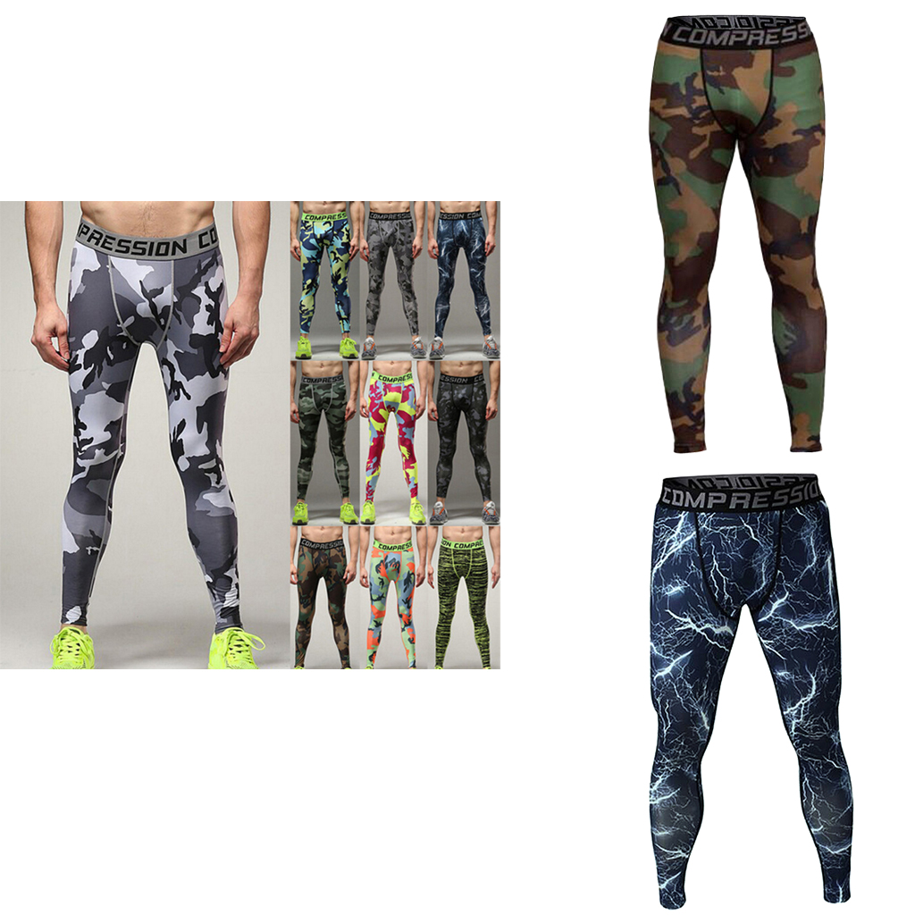 2pcs Mens Compression Long Pants Tights Stretch Sports Gym Fitness Trousers XXL