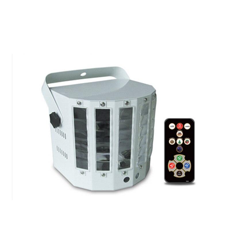 9 couleurs LED scène lampe KTV Laser barre de lumière lumières contrôle du son musique contrôle scintillement scène lumière LED papillon lumière 110v220v