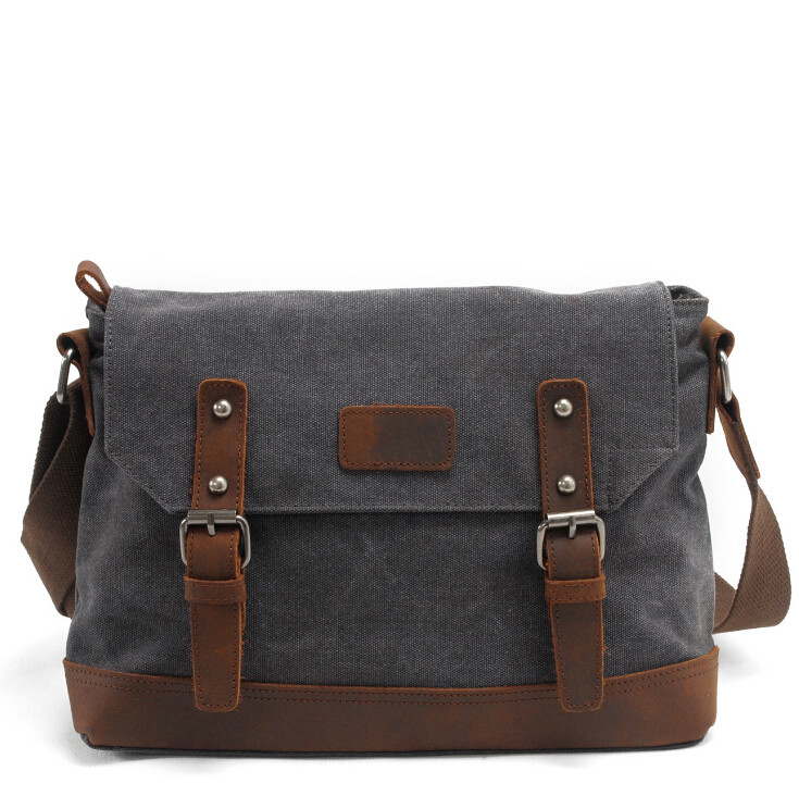 Men Women Retro Vintage Canvas Leather School Briefcase Military Travel Crossbody Shoulder Bag Messenger Bags Laptop Portfolio augur canvas leather men messenger bags military vintage tote briefcase satchel crossbody bags women school travel shoulder bags