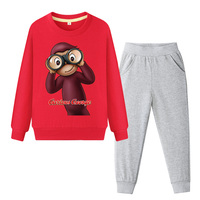 d92cc2061e Baby Cartoon Curious George Costume Boy Spring 2019 Clothes Suit Girls  Clothing Sets Children Tracksuit Kids