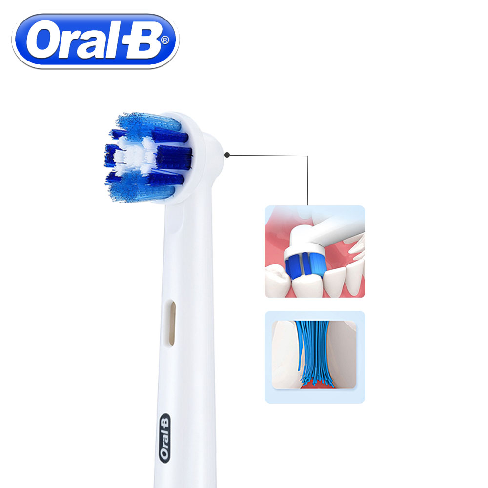 4pc/Pack Oral B Electric Toothbrush Heads For Oral B Precision Clean Rotation Sensitive Replacement Electric Toothbrush