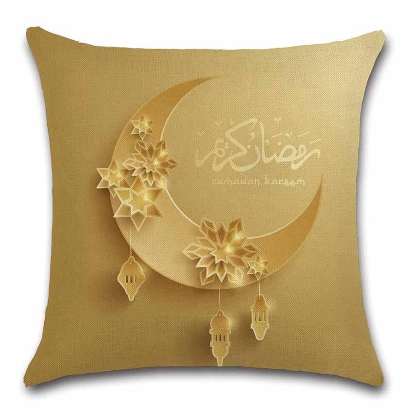 Islam moon pattern mosque Ramadan Decor Cushion Cover Decoration Home house sofa chair seat living room pillow case friend gift
