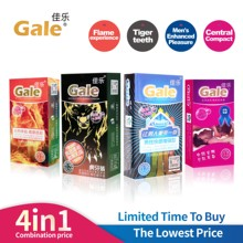 Gail 4in 1 Passionate Latex Point Natural Rubber Penile Condom for Male and Delayers