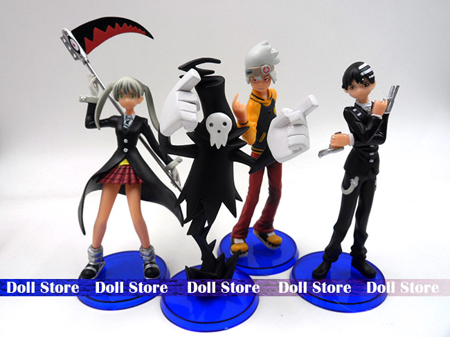 4pcs/LOT PVC 13-14CM Soul.Eater action figure Japanese anime figure kids toys doll for collection dremel 575 2615057532