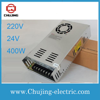 single output power supply Input 220VAC ouptut 24VDC 400w power supply voltage transformer S 400 24