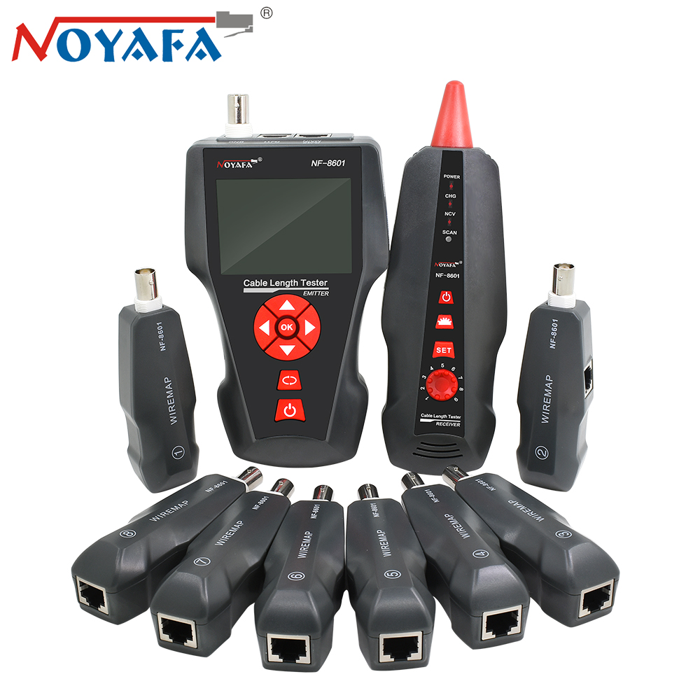 Original Noyafa NF-8601W Wire Tracker for BNC PING POE RJ11 Telephone Line RJ45 LAN Network Cable Tester Diagnose Tone Detector noyafa rj45 rj11 crimper lan network cable amplifier tone generator kit wire sniffer lan tester cable tracker for bnc telephone