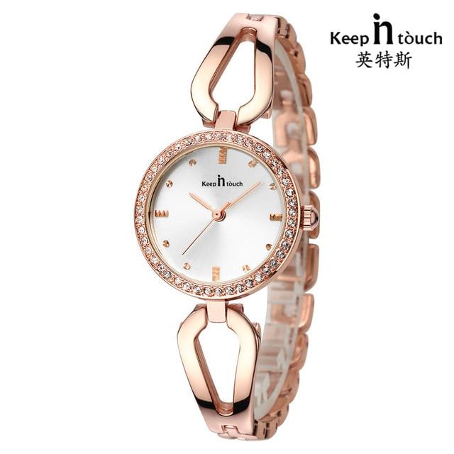 1e33b2492d95 2018 Moda de Nueva Marca mujeres pulsera reloj de lujo de acero inoxidable  relojes de cuarzo
