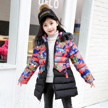 Weixu Baby Girl Clothes Winter 2019 Hooded Camouflage Cotton Padded Kids Coat Children Girls Warm Parkas Enfant Jackets & Coats недорого