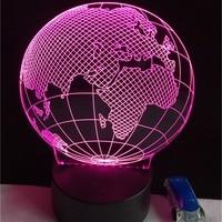 Hot 3D USB FÜHRTE Globus Nachtlicht 7 Farben Ändern Weihnachten Stimmung Lampe Touch-Taste Kinder Wohnzimmer Schlafzimmer Tisch Schreibtisch beleuchtung