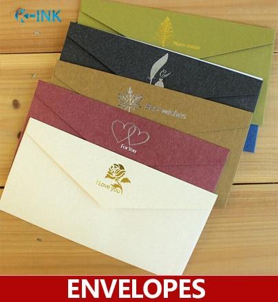 10pcs/lot ,shiny bronzing business envelopes , FOR YOU / LOVE YOU / BEST WISHES wedding envelopes