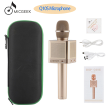 Original MicGeek Q10S Wireless Karaoke Microphone 2.1 Sound Track Dimensional Voice Change 4 Speakers Smartphone