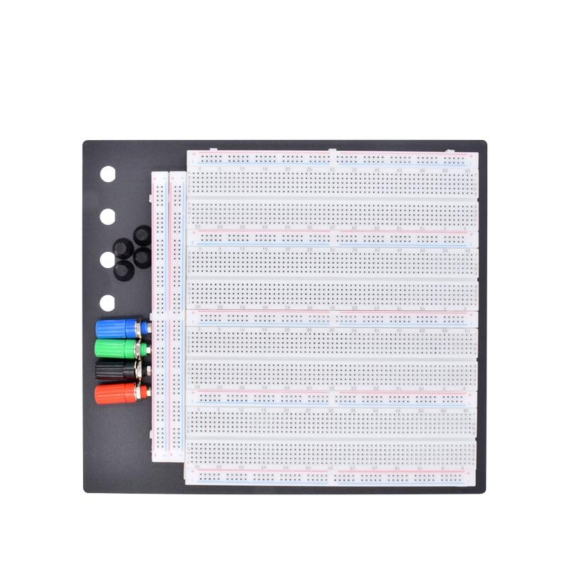 Wholesale No Welding Solderless Breadboard Plate 3220 Tie-points Test Circuit Board ZY-208 24 Hours Dispatch /4pcs 830 Points