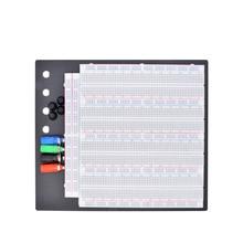 ZY 208 3220 Tie Points 솔더리스 브레드 보드 회로 테스트 보드 재사용 가능한 4 개의 복합 보드