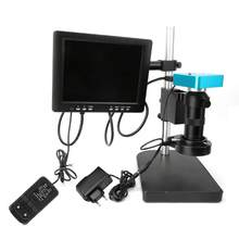 34MP HDMI HD USB Digital Industry Video Microscope Camera HDMI LCD Monitor Set 100-240V Industry Microscope(China)