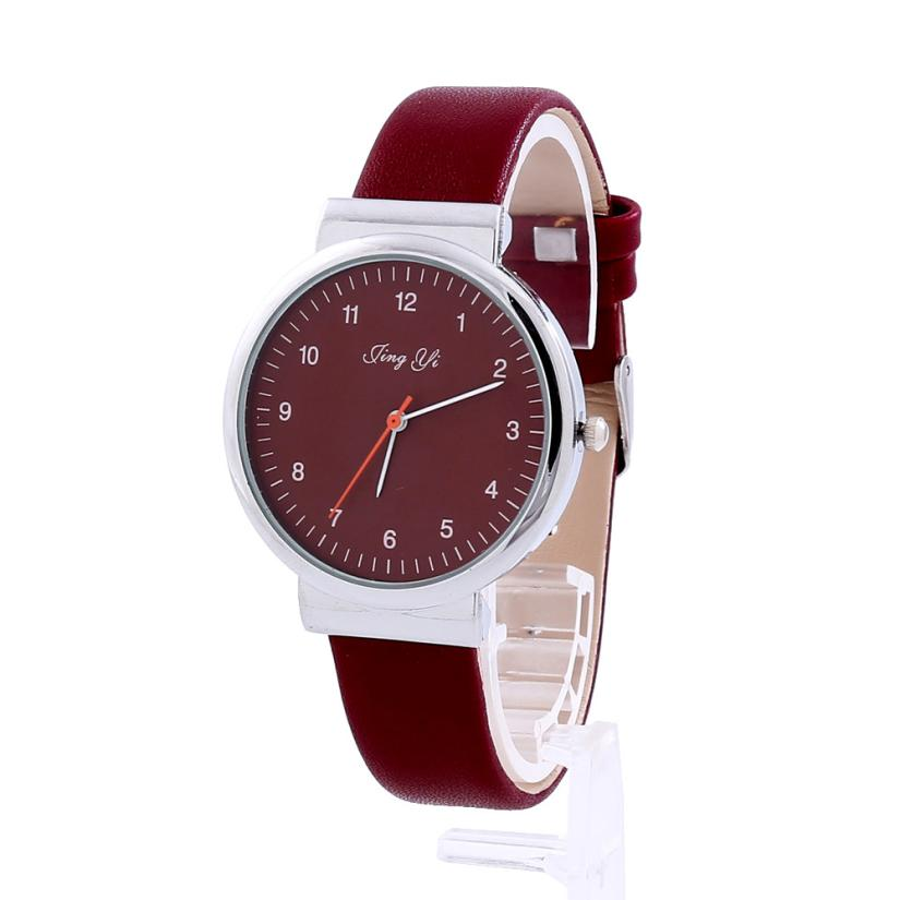 Luxury Women Watches New Elegant Design Roman Number Dial Red Leather Band Quartz Wrist Watch Womens Clock Reloj Mujer Aug01 цена