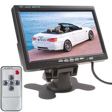 Горячая Супер 234×480 7 Дюймов Цветной ЖК-Монитор Автомобиля 7 Дюймов TFT ЖК-Экран Заднего Вида Монитор с Аудио выход