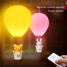 Mini Hot Air Balloon Lights Usb Cartoon Charging LED Night Light Children Bedroom Bedside Lamp EU/US Plug Baby Sleeping Holiday