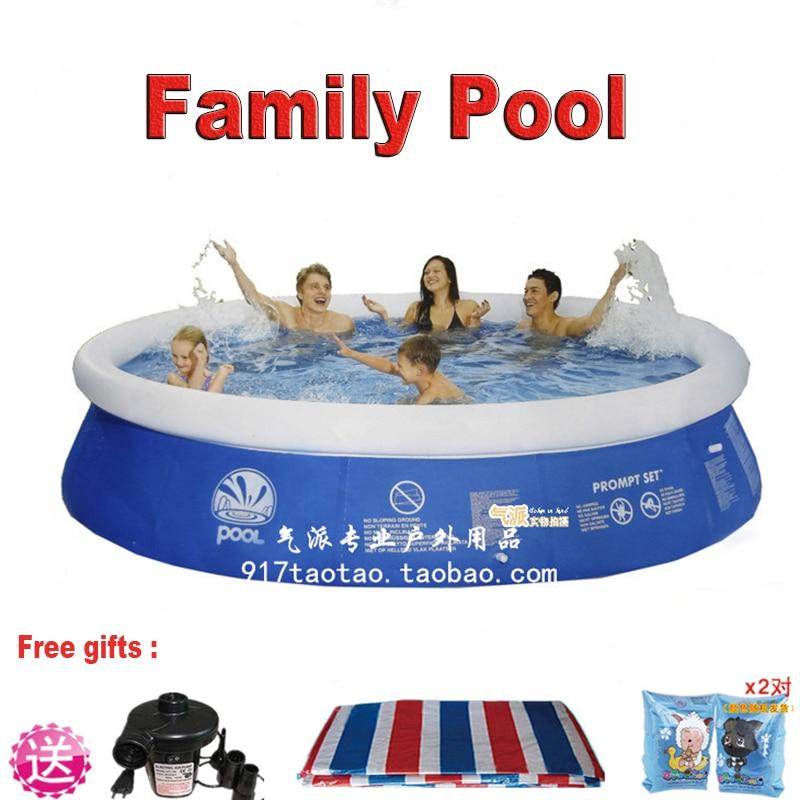 Grand adulte en plein air famille piscine ultralarge épaississement cercle enfant intérieur gonflable piscine