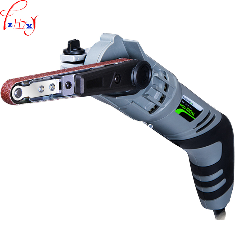 Hand - holding type 6 gear stepless speed belt sander BSD-120SC small portable metal sandpaper polishing machine 220V  1PC japan makita dbo180z rechargeable sanding machine plate type vibration sandpaper machine adjustable speed for wood polished