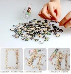 Image 5 - 150Pcs/Set Mini Sunrise Jigsaw Puzzles with Tube Bottle Blueprint Baby Toys Montessori Wooden Puzzle Education Toys for children