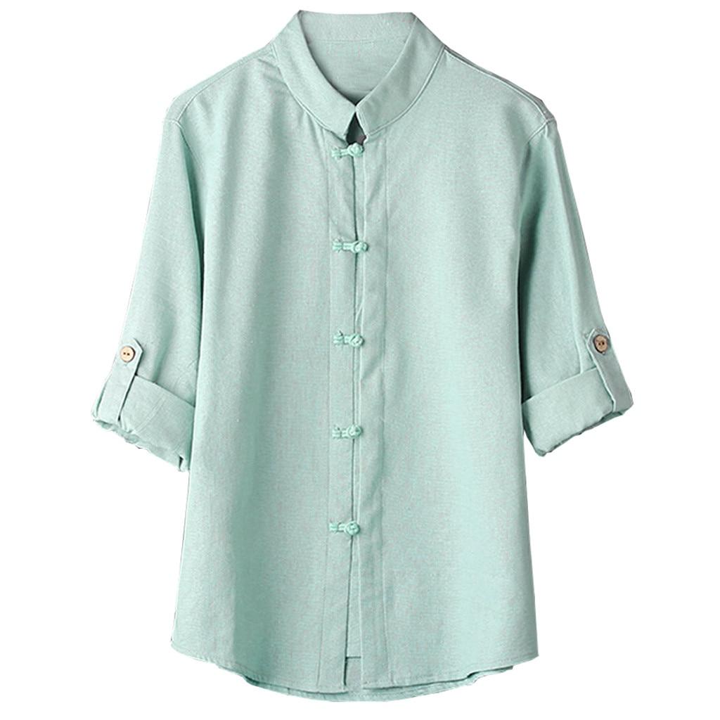 SELX Men Shirts Linen Hippie Summer 3//4 Sleeve V Neck Casual T-Shirt Tops