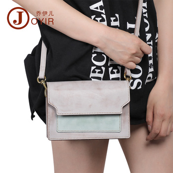 Joyir Korean genuine leather women shoulder bag vintage Spray wax six colors messenger bag women zipper&hasp crossbody for woman
