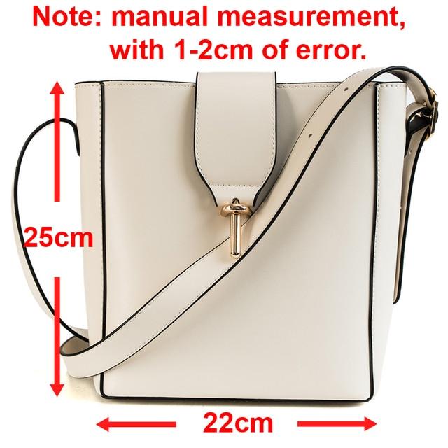 Burminsa Fall Bucket Shoulder Bags Female Large Capacity Designer Handbags Women Shopper Bags PU Leather Ladies Hand Bags 2018 1