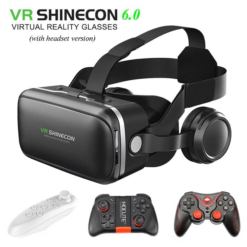 100% Original VR SHINECON 6,0 Virtual Reality brille 120 FOV 3d-brille google karton mit Headset Stereo Box Für smartphone
