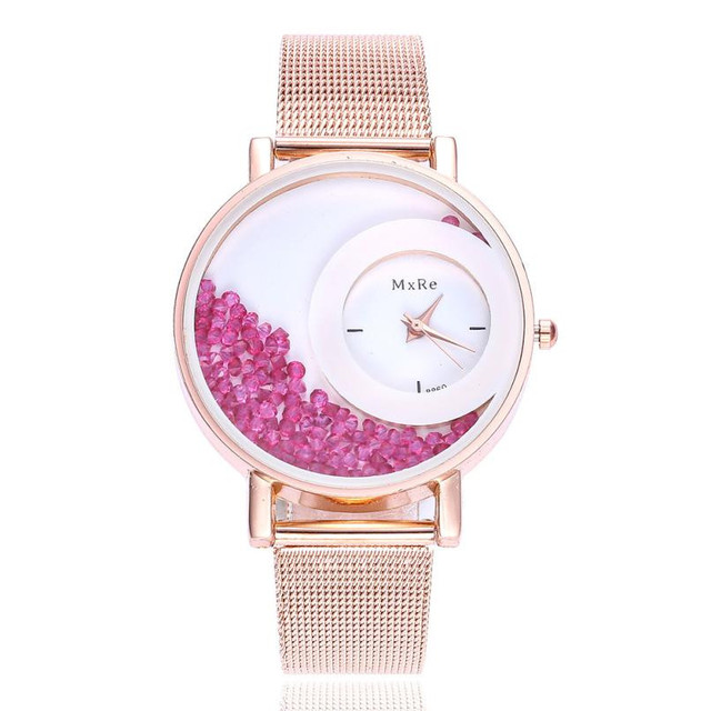 Fashion Creative Dial Women Bracelet Watches Casual Ladies Rhinestone Stainless