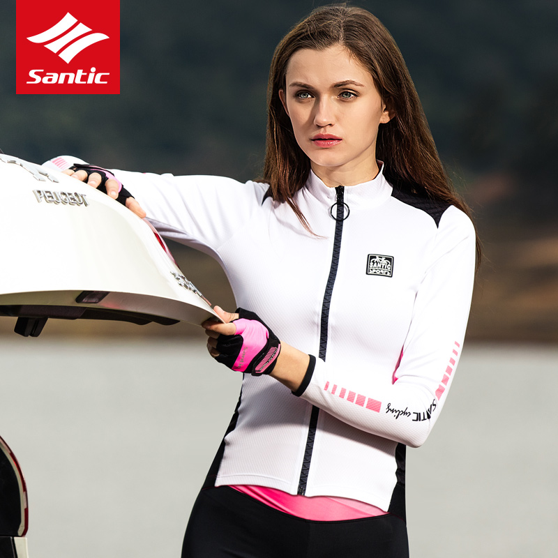 Santic Women Long Sleeve Cycling Jersey Pro Fit MTB Road Bike Top Jerseys Spring Summer Mountain Bicycle Jersey Sport Clothing стол офисный skyland imago s ca 2s l